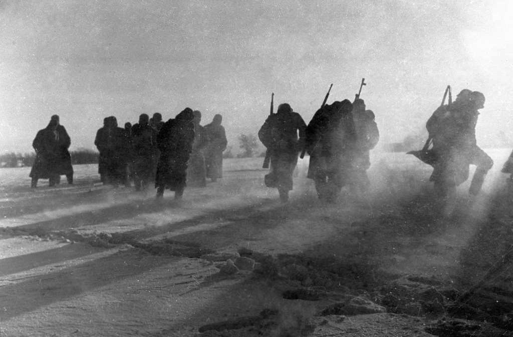 German troops retreating
